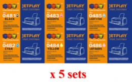 5 Sets x Epson Compatible T0481 - T0486 (NO VAT on prices)